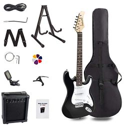 Display4top 39in Full-Size Electric Guitar Most complete Beginner Super Kit Package with 10-Watt ...