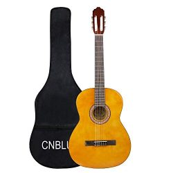 Classical Guitar Acoustic Beginner Guitar Nylon Strings 39 inch Full Size for Adults Student