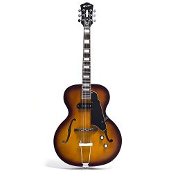 NEW GROTE Jazz Electric Guitar Semi-Hollow Body Chrome Hardware (Vintage Sunburst)