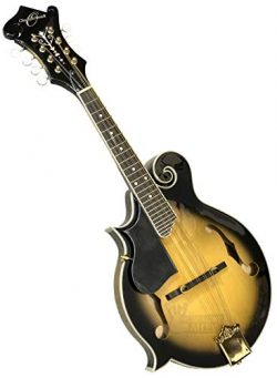 Oscar Schmidt Left Hand OM40 F-Style Acoustic Mandolin. Tobacco Sunburst (OM40LH-O