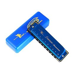 Swan Harmonica 10 holes (Key of C, Blue)
