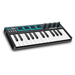 Alesis VMini | Portable 25-Key USB MIDI Keyboard Controller with 4 Backlit Sensitive Pads, 4 Ass ...