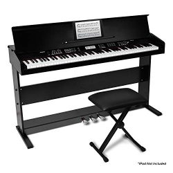 Alesis Virtue | 88-Key Beginner Digital Piano with Full-Size Velocity-Sensitive Keys, Lesson Mod ...