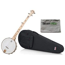 Deering Goodtime Banjo w/Lightweight Fit-All Banjo Case and Geartree Cloth