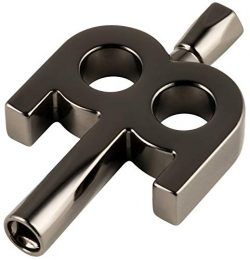 Meinl Stick & Brush Kinetic Drum Key with Black Nickel Plated Finish – Extra Weight Fo ...