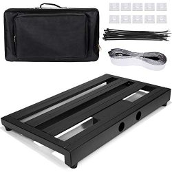 Luvay Guitar Pedal Board – Extra Large (22″ x 12.6″) with Bag, 7LB Pedalboard