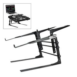 Pyle Portable Dual Laptop Stand – Universal Standing Table with Adjustable Height, Ergonom ...