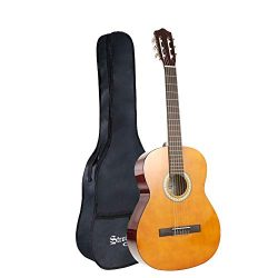 Strong Wind Classical Acoustic Guitar Kid Beginner Guitar 39 Inch4/4 Size Nylon Strings Guitar