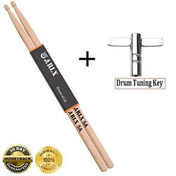Drum Stick 5A Wood Tip Drum Sticks 5a Drumstick (1 Pair Oak)