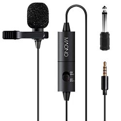 Lavalier Microphone, MAONO AU100 Hands Free Clip-on Lapel Mic with Omnidirectional Condenser for ...