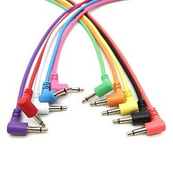 Right Angle Mono Modular Cables – TS 3.5mm 1/8 inch – Patch Eurorack Synth Synthesiz ...