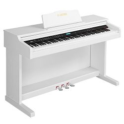 LAGRIMA White Digital Piano with Standard Key, 88 Key Electric Piano for Beginner(Adults/Kids) W ...