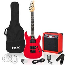 LyxPro 36 Inch Electric Guitar and Starter Kit Bundle for Kids with 3/4 Size Beginner's Gu ...