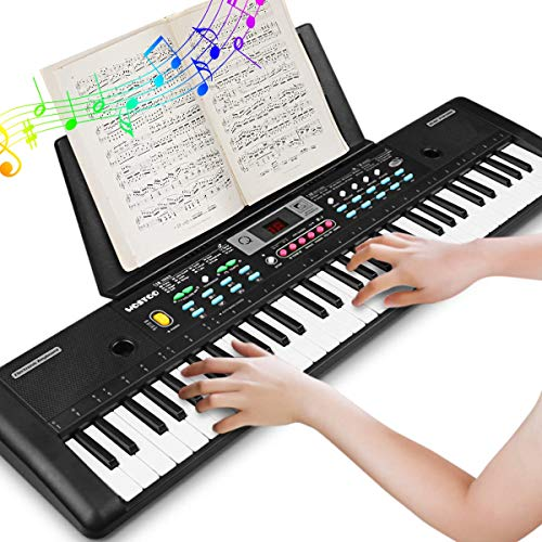 WOSTOO Keyboard Piano, 61 Key Portable Keyboard with Built- In Speaker, Microphone, Piano Stand, ...