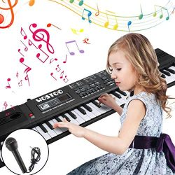 WOSTOO 61 Key Piano Keyboard Portable Electronic Kids Piano Keyboard Beginner Digital Music Pian ...
