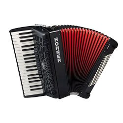 Hohner A16721S Bravo Line Facelift III -96 Bass Chromatic Piano Accordion with Gig Bag, Black