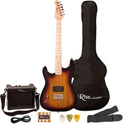 Rise by Sawtooth ST-RISE-ST-LH-SB-KIT-1 Electric Guitar Pack, Left Handed, Sunburst