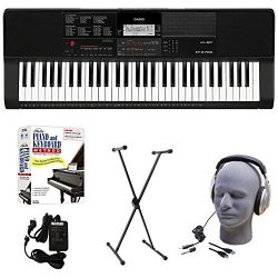 Casio CT-X700 EDP Educational Keyboard Pack with Power Supply, Stand, Headphones, USB Cable, and ...
