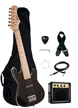 30″ Kids 1/2 Size ULTIMATE Electric Guitar Package with 3W Amp, Gig Bag, Strap, Cable and  ...