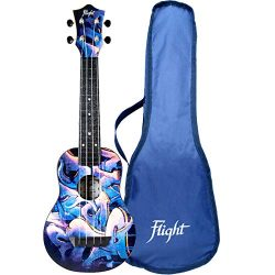 Flight, 4-String Travel Series Soprano Ukulele, (TUS-40 GRAFFITI NEW 2019)