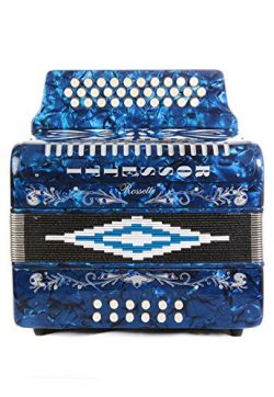 Rossetti 31 Button Accordion 12 Bass FBE Blue