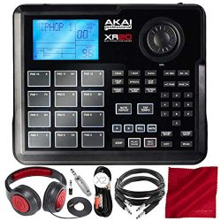 Akai Professional XR20 Beat Production Station Drum Machine with 12 Trigger Pads, Note Repeat, a ...