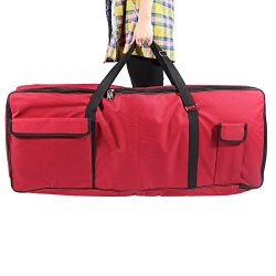 ammoon 61-Key Keyboard Electric Piano Organ Gig Bag Soft Case Dual Zipper 39.3″ 15.7″ ...