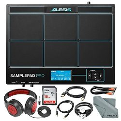 Alesis SamplePad Pro 8-Pad Percussion and Triggering Instrument with Samson Headphones, 16GB Car ...
