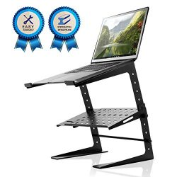Pyle Portable Adjustable Laptop Stand – 6.3 to 10.9 Inch Standing Table Monitor or Compute ...