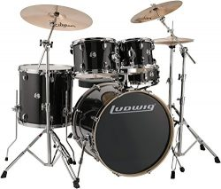 Ludwig Element Evolution 5-Piece Drum Set with Zildjian ZBT Cymbals – 22 Inches – Bl ...