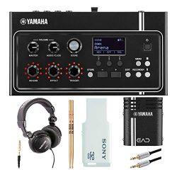 Yamaha EAD10 Acoustic Drum Module Bundle with Headphones, Drumsticks, 32GB Flash Drive and Aux C ...