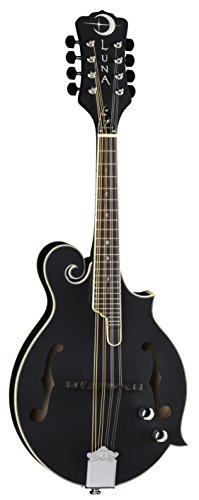 Luna Moonbird F-Style Acoustic/Electric Mandolin, Satin Black