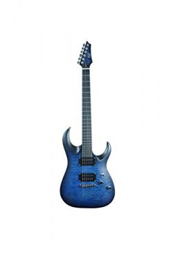 ivy IS-300 TBL Strat Solid-Body Electric Guitar, Trans Blue Burst