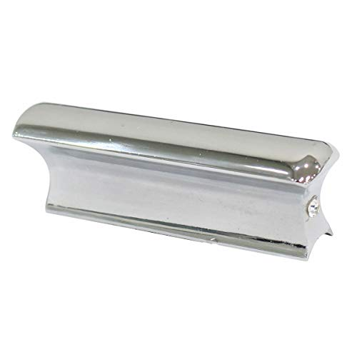 XtremeAmazing Guitar Slide Tone Bar for Dobro Lap Steel Guitar Electric Guitar Chrome