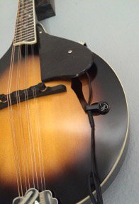 The Feather A-Style Mandolin Pickup with Flexible Micro-Gooseneck by Myers Pickups
