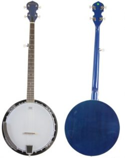 Jameson Guitars, Blue Jameson 5 String Banjo with Closed Back and Geared 5th Tuner, Right (BJ005 ...
