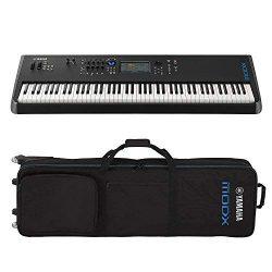 Yamaha MODX8 88-Key Semi-Weighted Action Keyboard Synthesizer with Yamaha MODX8 Gig Bag