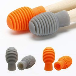 4 Pieces Drum Mute Drum Dampener Silicone Drumstick Silent Practice Tips Percussion Accessory Mu ...