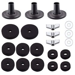 21 Pieces Cymbal Replacement Accessories, Amadget Cymbal Felts Hi-Hat Clutch Felt Hi Hat Cup Fel ...