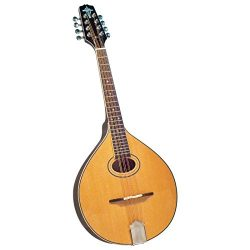 Trinity College TM-325 Standard Celtic Octave Mandolin with Hardshell Case – Natural Top