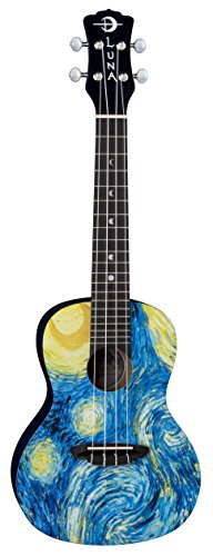Luna Uke Starry Night Ukulele-Concert with Gigbag STR C
