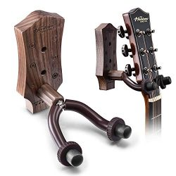 Guitar Wall Mount, Hard Wood Guitar Wall Hanger, Guitar Hook Stand Accessories for Acoustic Elec ...