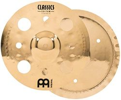 Meinl  12″ Trash Stack Cymbal Pair with Holes – Classics Custom Brilliant – Ma ...