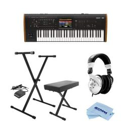 Korg Kronos 61 Key Music Workstation with SGX-2 Engine, Kronos System Version 3.0 – Bundle ...