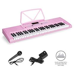 Best Choice Products 61-Key Portable Electronic Keyboard Piano w/LED Screen, Record & Playba ...