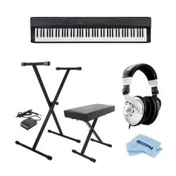 Casio PX-160 Privia 88-Key Portable Digital Piano, Black – Bundle With On-Stage KPK6520 Ke ...