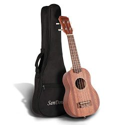 "SANDONA Soprano Ukulele Set 21"" Sapele UK-1 