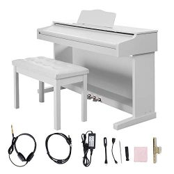 Digital Piano,Les Ailes de la Voix 88 Key Electric Piano Portable for Beginner Adults with 3 Ped ...