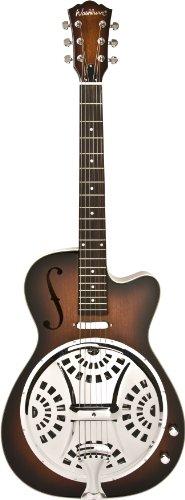Washburn Resonators R15RCE Resonator Electric Guitar, Natural