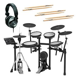 Roland TD-17KVX-S V-Drums Electronic Drum Set (with RH-300V headphones & drum sticks)